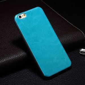 Силиконовая накладка под кожу Turquoise Бирюзовый для IPhone 6