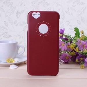 Пластиковый чехол Кружева Heart Красный для IPhone 6