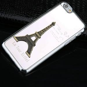 Пластиковый чехол Paris Metal Silver Серебро для iPhone 6/6s