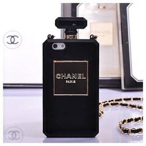 Чехол chanel bottle black черный для iphone 4 4s