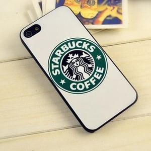 Пластиковый чехол Starbucks White Старбакс Белый для IPhone 5/5s