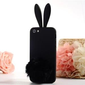 Силиконовый чехол-зайчик Rabito с ушками для iPhone 5