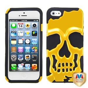 Защитный чехол Череп Skull Head Золото для iPhone 5