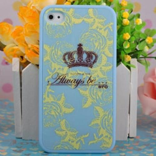 Чехол Ero case Blue Crown для IPhone 4-4s