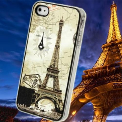 Чехол Пластик Eiffel Tower Париж для IPhone 4-4s