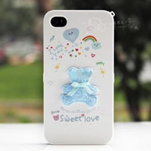 Чехол Happymori Blue Bear Синий медвежонок для IPhone 4/4s