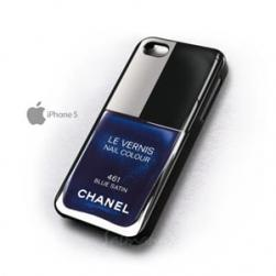 Чехол Лак Chanel 461 Blue Satin для iPhone 4&4s