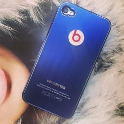 Чехол Monster Beats. by Dr. Dre Синий для IPhone 4/4s