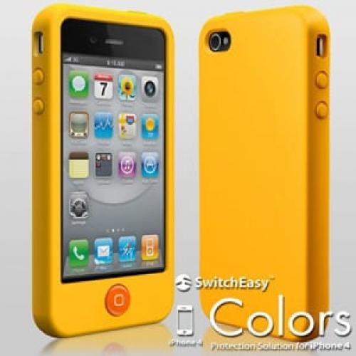 Чехол SwitchEasy Colors Mican Желтый для IPhone 4-4s