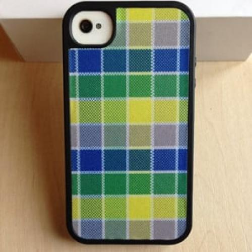 Чехол Speck HalfTone Plaid Blue-Yellow для IPhone 4-4s