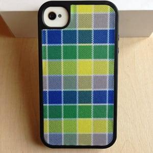 Чехол Speck HalfTone Plaid Blue/Yellow для IPhone 4/4s