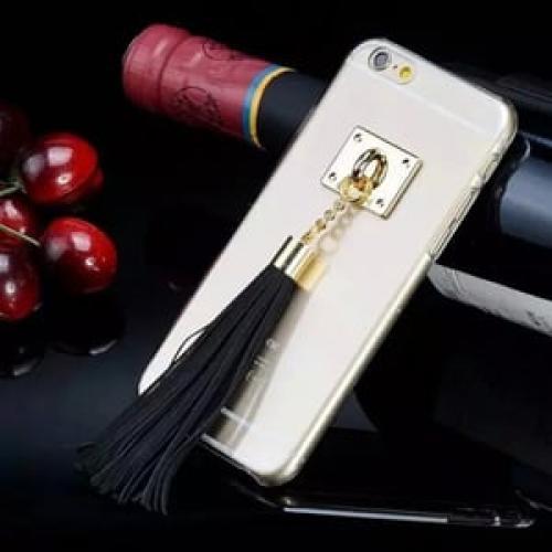 Пластиковый чехол Tassel с хвостиком Black Черный для iPhone 6/6s