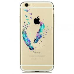 Силиконовый чехол Watercolor Art Colored Feathers для iPhone 6+&6s Plus