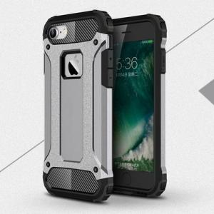 Силиконовый чехол Spigen Strong Armor Tech Satin Silver для iPhone 7&7s