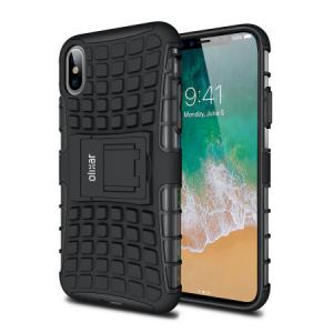 Чехол Бампер X-Trex  Rugged Card Kickstand - Black для IPhone X