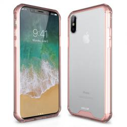 Силиконовый чехол ExoShield Tough Snap-on - Rose Gold & Clear для IPhone X