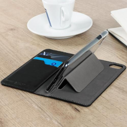Кожаный чехол Genuine Leather Executive Wallet Case - Black для IPhone X