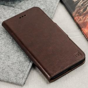 Кожаный чехол Leather-Style Wallet Stand - Brown для IPhone X