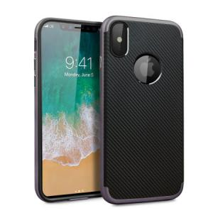 Защитный чехол X-Duo - Carbon Fibre Metallic Grey для IPhone X
