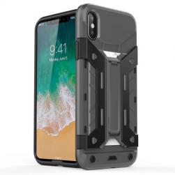 Чехол пластиковый X-Trex Rugged Card Kickstand Case - Grey для IPhone X