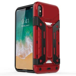 Чехол Бампер X-Trex Rugged Card Kickstand - Red для IPhone X