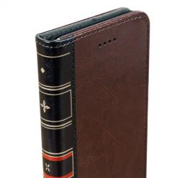 Чехол кожаный X-Tome Leather-Style Book - Brown для IPhone X