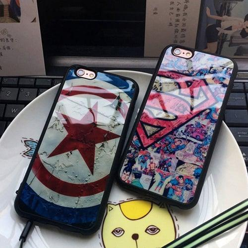 Силиконовый чехол Captain America and Winter Soldier для iPhone 7