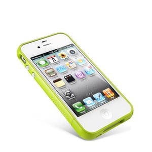 Бампер SGP Linear EX Color Series lime Зеленый для IPhone 4-4s
