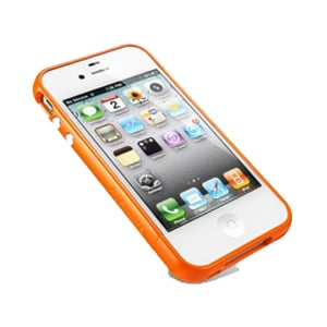 Бампер SGP Linear EX Color Series Tender orange Оранжевый для IPhone 4-4s