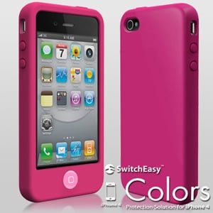 Чехол SwitchEasy Colors Fuchsia Розовый для IPhone 4-4s